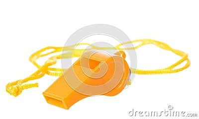 Orange whistle isolated