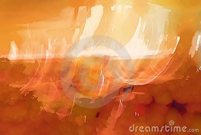 Orange and white abstract