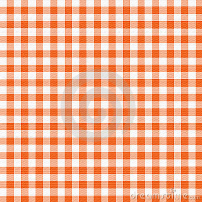 Orange White Gingham