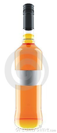 Orange wine bottle