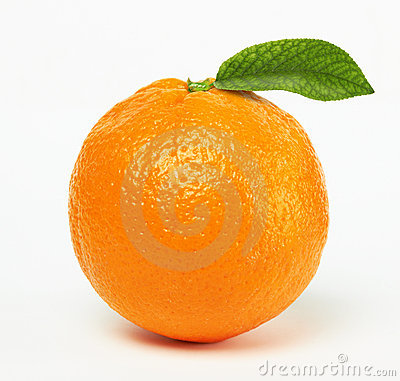 Free Orange With Leaf Royalty Free Stock Photos - 19627028