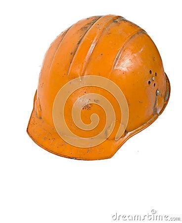 Orange Worker Helmet
