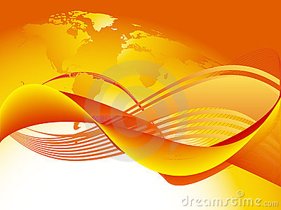 Orange world wave