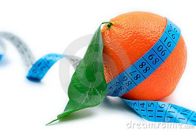 Orange wrapped around a tape
