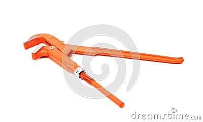 Orange wrench isolated