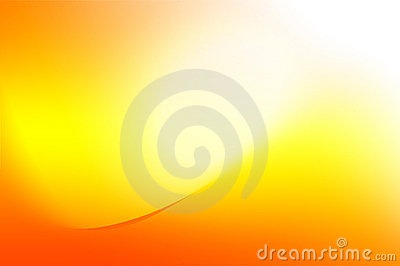 Orange and yellow background with curves