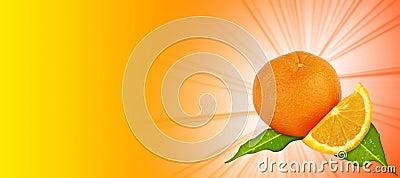 Orange - yellow- orange background