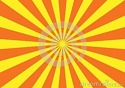 Orange yellow starburst pattern