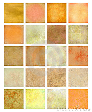 Orange And Yellow Textured Background Set