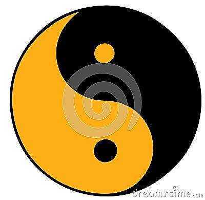 Orange Yin Yang Symbol