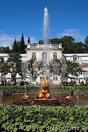 The Orangery Fountain Editorial Stock Image