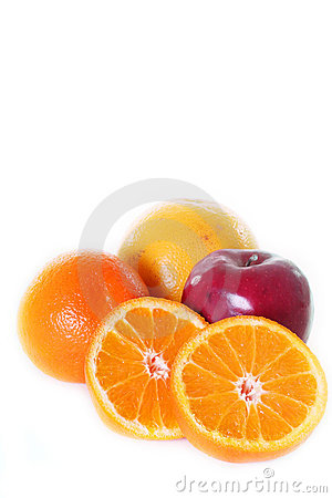 Free Oranges, Apple And Grapefruit Royalty Free Stock Image - 11439136