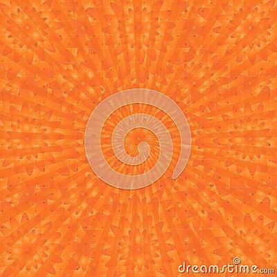 Oranges blooming