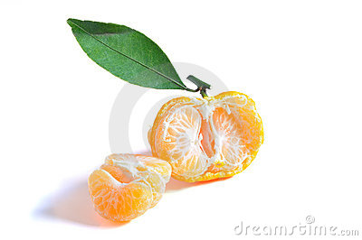Oranges in isolated