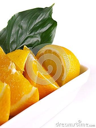Free Oranges, Lemon, Leaf Royalty Free Stock Photography - 3804037