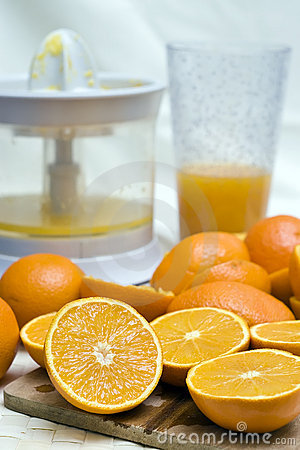 Oranges and mixer