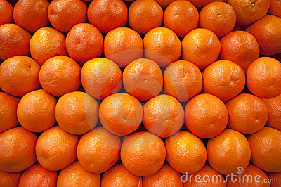 Oranges in a row
