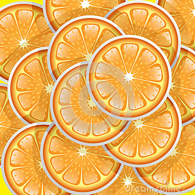 Oranges slices pattern