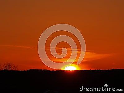 Orangey Sky