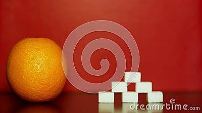 Oranje en witte suiker stock video