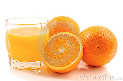 Oranje fruits and juice