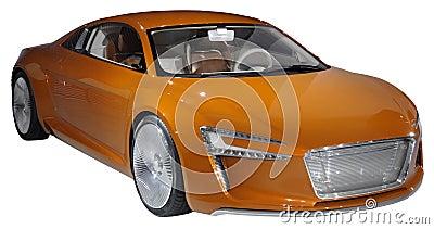Oranje geïsoleerdee luxecoupé