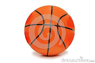 Oranje geïsoleerde basketbal