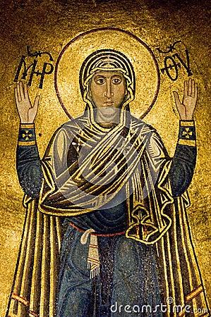 Free Oranta (Virgin Mary) Royalty Free Stock Photography - 631177