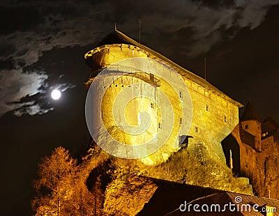 Orava Castle - At night