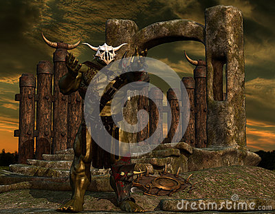 Orc at a border wall