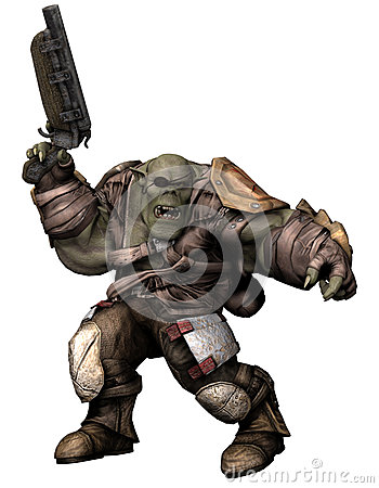 Orc soldier in armour