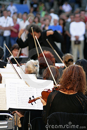 Orchestra of classical music