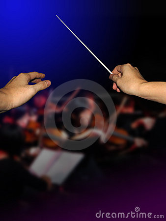 Free Orchestra Conductor Royalty Free Stock Photos - 5129558