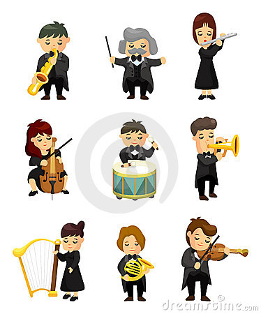 Free Orchestra Music Player Stock Photo - 22576790