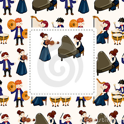 Orchestra music player card