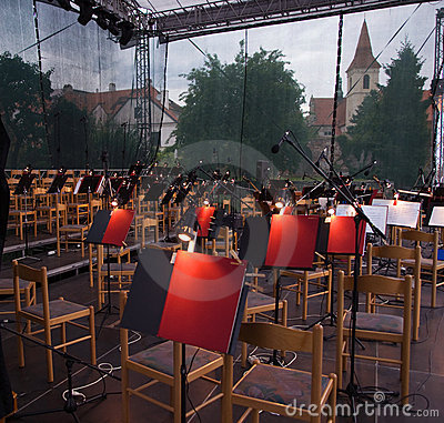 Orchestra pit in Cesky Krumlov