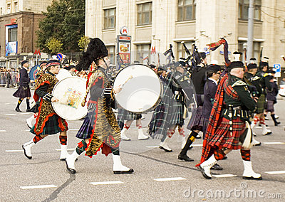 Orchestra of Scotland on international festival of military orch Editorial Stock Photo