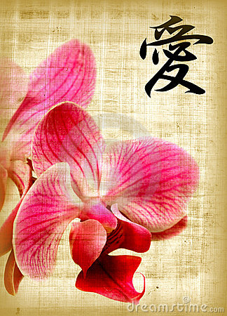 Orchid and hieroglyph love