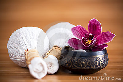 Orchid and massage compresses