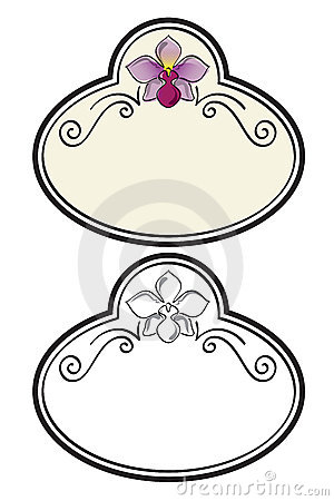 Orchid sign vector