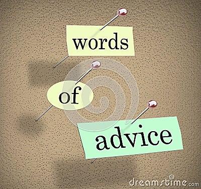 Ord av konsulterande vägledning för rådgivninganslagstavlan tippar Suggesti