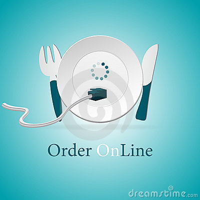 Free Order Food Delivery Online Royalty Free Stock Images - 17308429