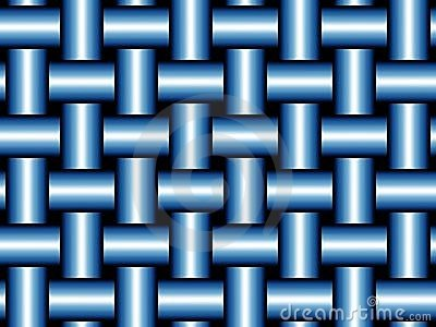 Orderly blue weave