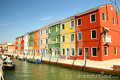 Orderly Colorful House on Burano , Venice