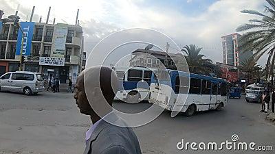 Ordinary Ethiopians on the street of Mekelle. Mekelle, ETHIOPIA, APRIL 29th. 2019, Ordinary Ethiopians on the street of Mekelle, the capital city of Tigray stock footage