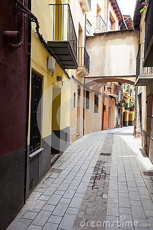 Ordinary street of catalan town