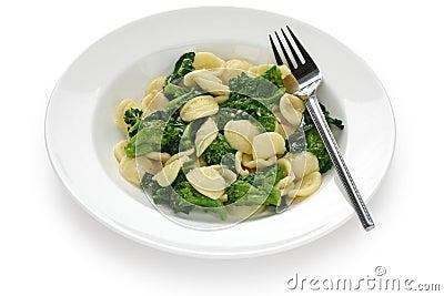 Orecchiette con le cime di rapa , italian pasta