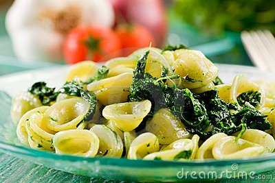 Orecchiette with Turnip tops