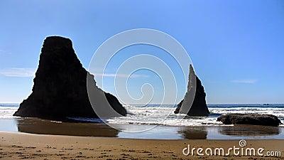 Oregon Coast Bandon Beach, Wizards Hat Rock