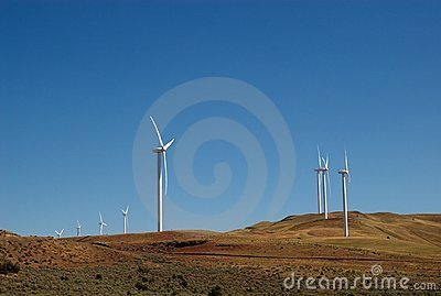 Oregon Desert Windmills Stock Photo - Image: 14823030